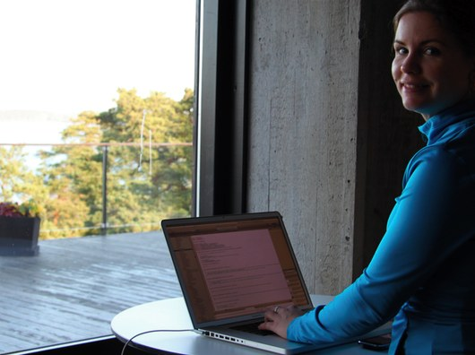 Susanne programmerar PoWorkout Stretch